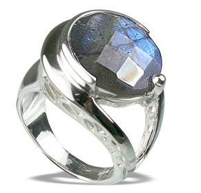 Design 12282: gray labradorite solitaire rings