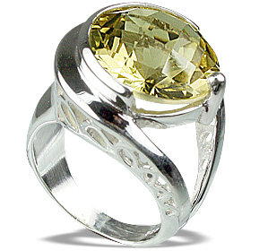 Design 12283: yellow lemon quartz rings