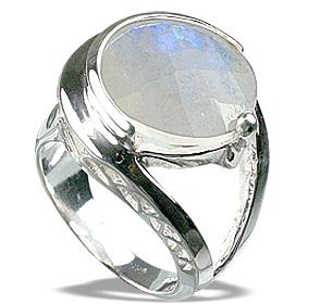 Design 12284: white moonstone solitaire rings