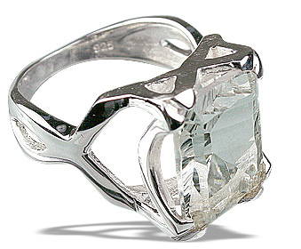 Design 12286: white crystal art-deco rings