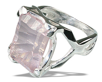 Design 12287: pink rose quartz art-deco rings