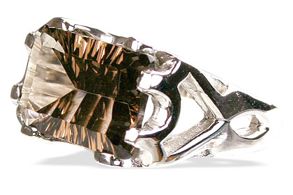Design 12289: brown smoky quartz rings