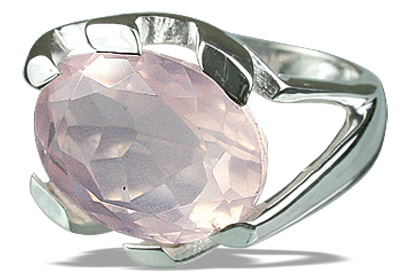 Design 12291: pink rose quartz rings