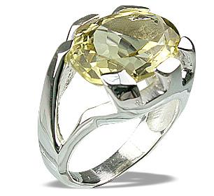 Design 12292: yellow lemon quartz rings
