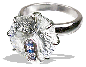 Design 12296: blue,white crystal solitaire rings