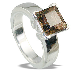 Design 12309: brown smoky quartz rings