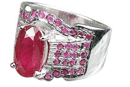 Design 12432: pink ruby brides-maids rings