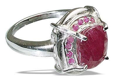 Design 12446: pink ruby contemporary rings