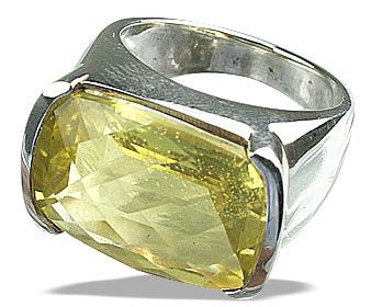 Design 12456: yellow lemon quartz mens rings