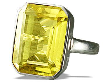 Design 12457: yellow lemon quartz rings