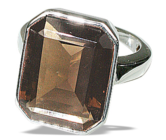 Design 12458: brown smoky quartz cocktail, mens rings