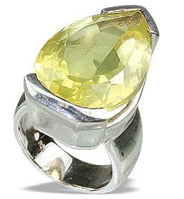 Design 12464: yellow lemon quartz mens rings