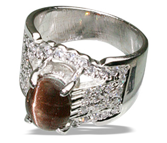Design 12506: brown cats eye estate, mens rings