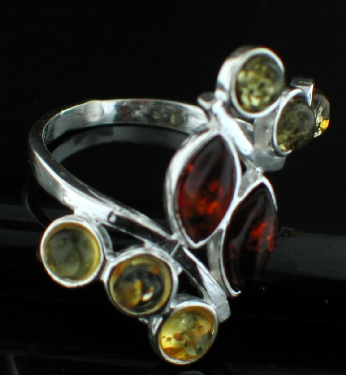 Design 12508: green,red,yellow amber rings