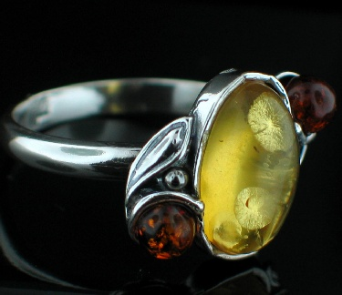 Design 12509: orange,yellow amber rings