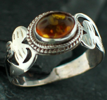 Design 12514: orange amber rings