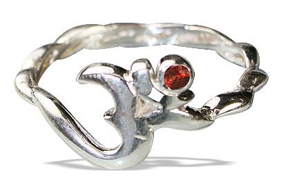Design 12874: red,white garnet ohm, religious rings
