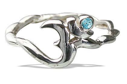 Design 12875: blue,white blue topaz ohm rings