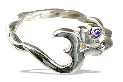 Design 12876: purple,white iolite ohm, religious rings