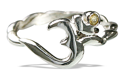 Design 12877: white,yellow citrine ohm, religious rings
