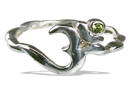 Design 12878: green,white peridot ohm, religious rings