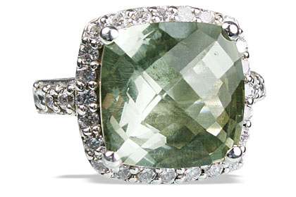 Design 12954: green,white green amethyst cocktail rings
