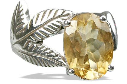 Design 12960: yellow citrine vintage rings