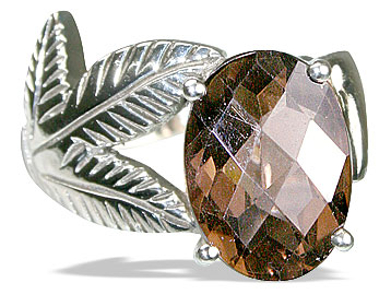 Design 12963: brown smoky quartz vintage rings