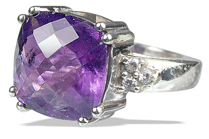 Design 12967: purple amethyst mens rings