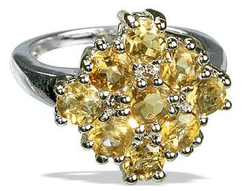Design 12983: yellow citrine flower rings