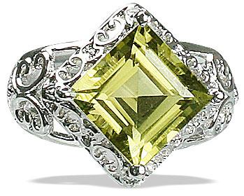 Design 12984: yellow lemon quartz engagement, solitaire rings