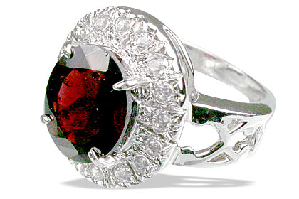 Design 12985: red garnet engagement, estate rings