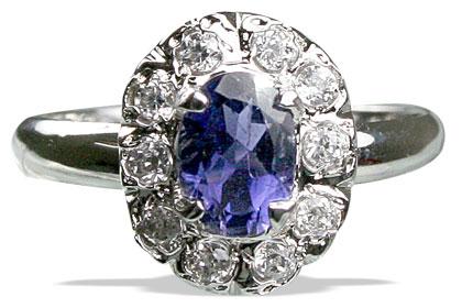 Design 12992: blue,white iolite contemporary rings