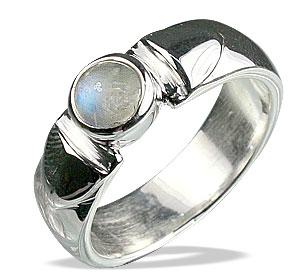 Design 13051: white moonstone engagement, mens rings