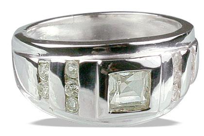 Design 13059: white white topaz brides-maids rings