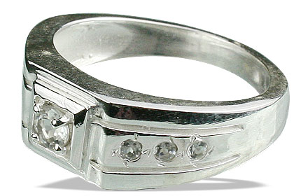 Design 13081: white white topaz contemporary, engagement, mens, wedding rings