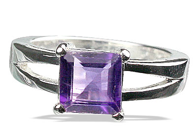 Design 13094: purple amethyst brides-maids rings