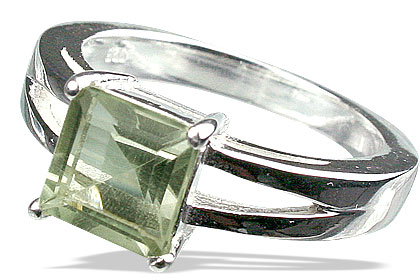 Design 13096: green green amethyst contemporary rings