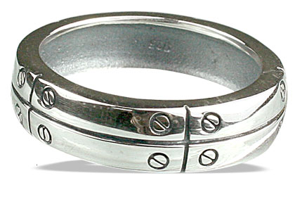 Design 13099: white silver mens rings