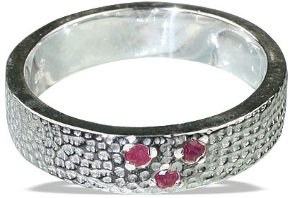 Design 13100: red ruby brides-maids rings