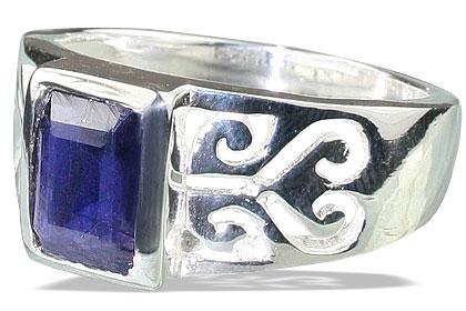 Design 13101: blue iolite mens rings