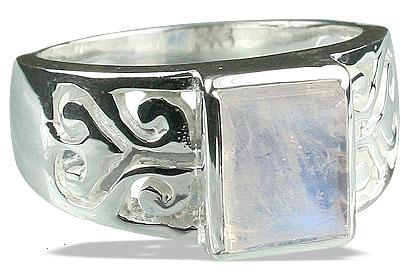 Design 13102: white moonstone mens rings