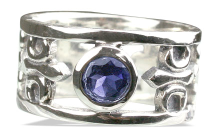 Design 13112: blue iolite mens rings
