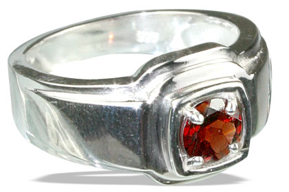 Design 13138: red garnet contemporary rings