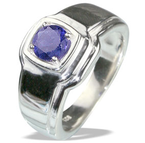 Design 13139: blue iolite contemporary rings