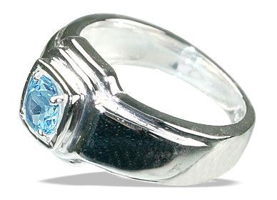 Design 13140: blue blue topaz contemporary rings
