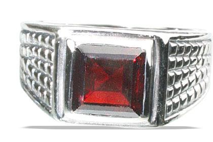 Design 13143: red garnet art-deco rings