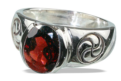 Design 13146: red garnet gothic-medieval rings
