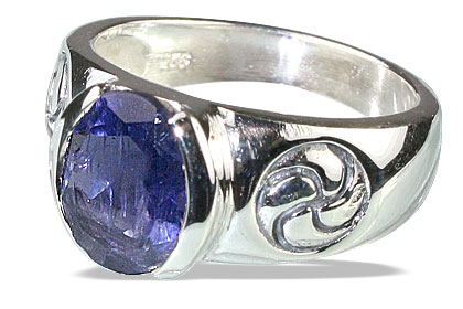 Design 13147: blue iolite gothic-medieval rings