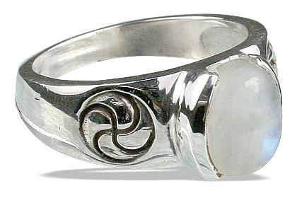 Design 13148: white moonstone mens rings